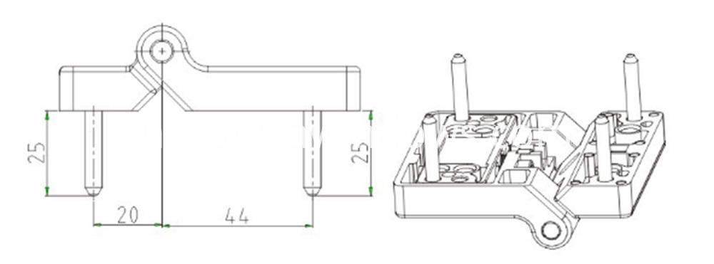 Folding Hinge, Sliding Folding Hinge,Sliding Folding Door Hinge Drawing