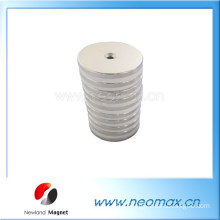 Customized Round Permanent Neodymium Magnet with a hole for hot sale