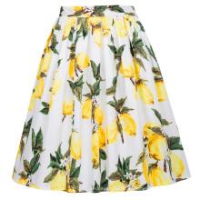 Grace Karin Retro Vintage 1950s algodón plisado limón Imprimir falda CL6294-23