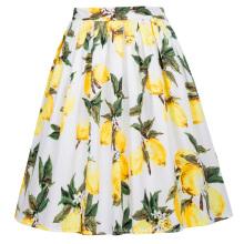 Grace Karin Retro Vintage 1950 en coton plissé jupe imprimé en citron CL6294-23