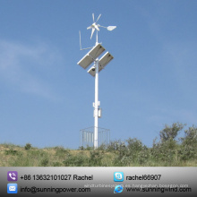 Sistema de suministro de energía eólica y solar para monitoreo