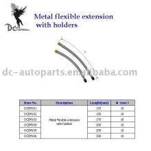 Extensões de válvula de pneu e extensão flexível de metal