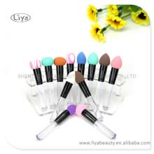 Cepillo del polvo colorido para el cuidado de la piel con logotipo personalizado