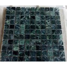 Mosaico de mármol de piedra verde (HSM212)