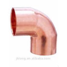 Encaixe de tubulação de cobre cotovelo de 90 graus de raio curto CxC para refrigerador e ar condicionado