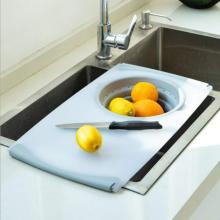 Multifunktions-Schneidebrett Drain Folding Sink Basket