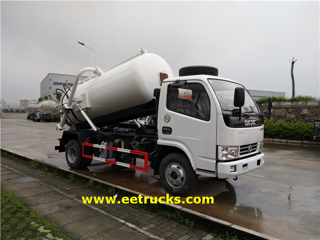 7 CBM Waste Suction Trucks
