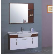 Mobília do armário de banheiro do PVC de 100cm (B-217)