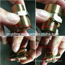 "Pressure Washer Brass Coupling (M22 M+ 3/8"" M)"