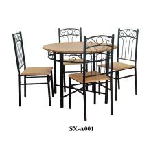 Inicio Muebles Comedor Set / 5 piezas de madera comedor Set / mesa de madera con 4 sillas