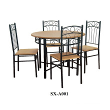 Home Furniture Dining Room Set/5 Piece Wood Dining Set/ wooden table with 4 chairs