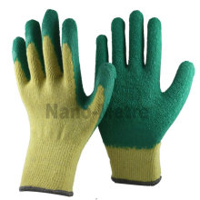NMSAFETY latex safety glove knitted natural latex dipped cotton gloves