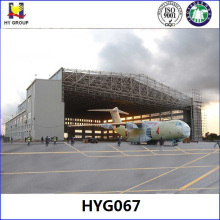 Hangar de aeronaves de estructura de acero prefabricada