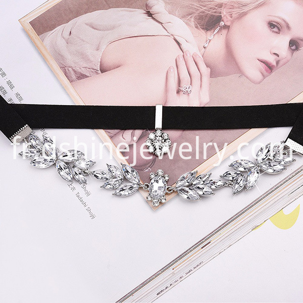 Black Velvet Leather Choker Necklace