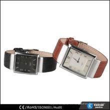 Pareja amante reloj de pulsera moda de cuero