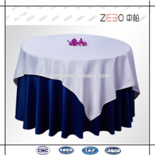 100% poliéster de color sólido de tela lisa tejida ropa de mesa personalizada para bodas