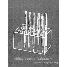 Support de présentoir de stylo acrylique rectangulaire
