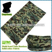 LSB38 Ningbo Lingshang Polyester Camo Design für sportlichen heißen Verkauf 24 * 48 cm nahtlose Bandana verwendet