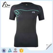 Atacado Juventude Compressão T-Shirts Mesh Insert Sports Wear