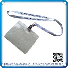 Solapa de impresión de pantalla de seda de poliéster con clip de metal