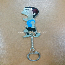 Promotional Athlete Shaped Bottle Opener Keyrings