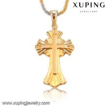 32668 Xuping moda pingente de ouro religiosa sem pedra