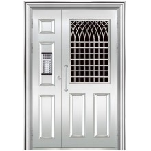 Входная дверь из нержавеющей стали