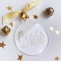 Acrylic Christmas Circle Ornaments