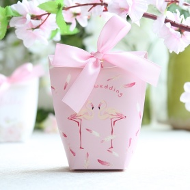 Pink chocolate candy packaging box