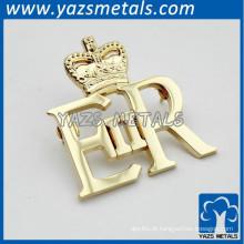 low cost custom metal engrave die cut pins
