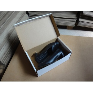 Manufacturer of for China Corrugated Paper Box,Black Paper Box,Apparel Paper Box Supplier Custom flat women shoes box with OEM logo supply to Germany Exporter