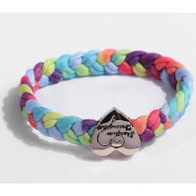 fashion bracelet with Zinc alloy logo