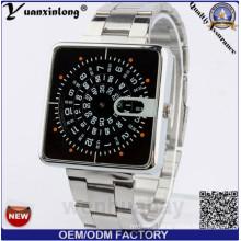 Yxl-366 New Design Paidu Square Dial Stainless Steel Quartz Chronograph Watch Luxury Brand Watches Men Watch 2016
