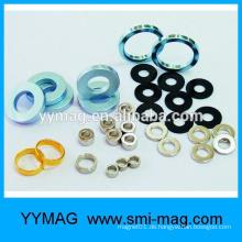 Chinesischer Hersteller Gold beschichtet Neodym Ring Magnet