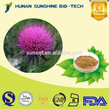 Лучшая цена анти-излучения растения расторопша пятнистая экстракт расторопши семян, 80% Силимарина