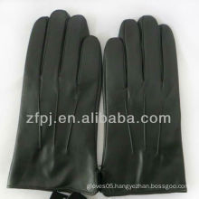 Men black practical leather products for gloves for driving