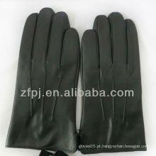 Homens pretos produtos de couro práticos para luvas para a condução