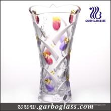Florero de cristal del tulipán (GB1514YJX-PDS2)