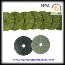 Almofada de polimento flexível de diamante molhado