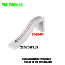 Elegant White PU Bracelet Display Wholesale (BT-G2-WL)