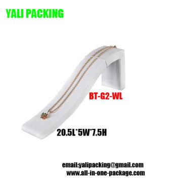Elegant White PU Bracelet Display Wholesale (BT-G2-WL)