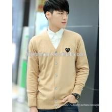 Модные вязаные cardign мужской кардиган с кнопки V-образным вырезом кашемировый свитер