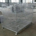 Panier de rangement en fil métallique pliant galvanisé
