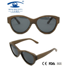 New Lady Style Polaroid Wooden Sunglasses