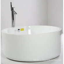 Bañera redonda con forma de O