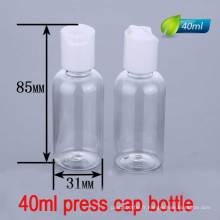 40ml Press Cap / Disc Top Bouteille, Lotion Liquid Plastic Bottle Container