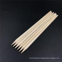 Nail art orange manicure wood stick