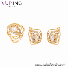 64617 xuping 18K gold plated gemstone elegant style fashion jewelry set for women