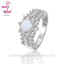Manufacture gros opale folle bijoux conçoit des bijoux de rhodium solide