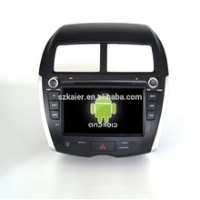 Quad core! Dvd do carro com link espelho / DVR / TPMS / OBD2 para 8 polegada tela sensível ao toque quad core 4.4 sistema Android MITSUBISHI ASX